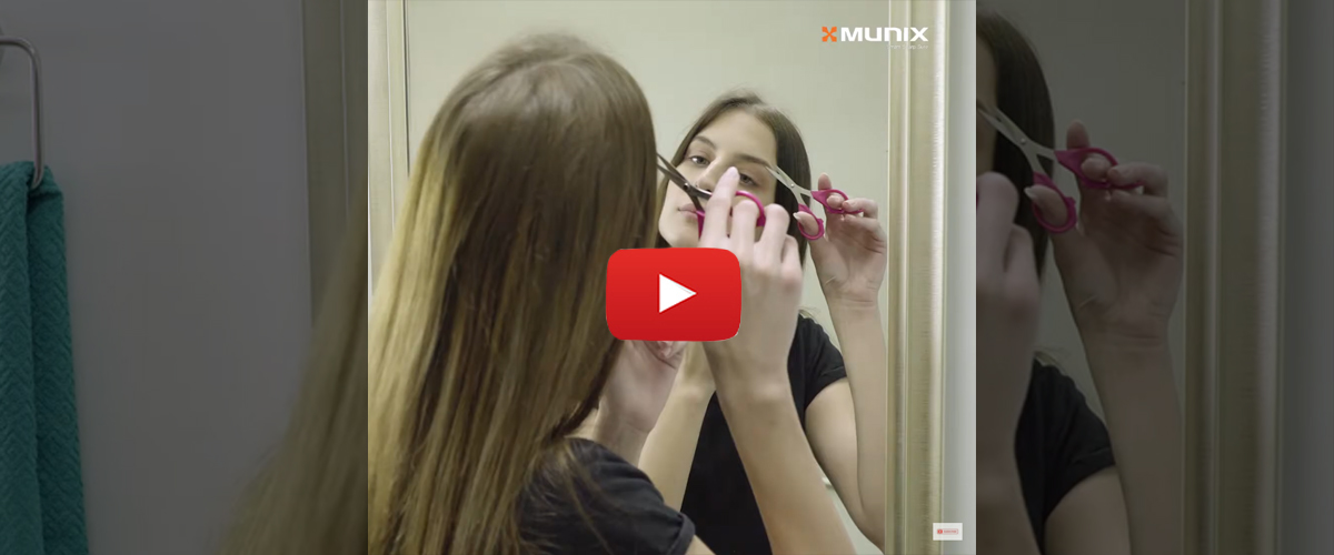 Personal Grooming With Munix Personal Care Scissors